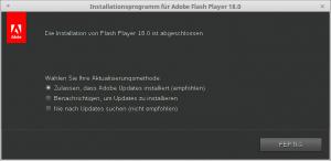 Installationsprogramm für Adobe Flash Player 18.0_007